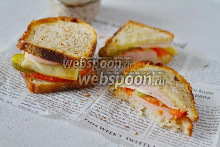 Фото  Сытный бутерброд для перекуса