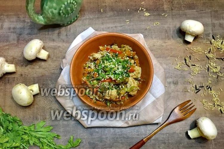 Фото Вок с рисом и курицей