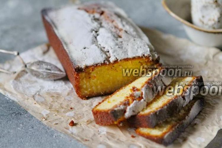 Фото Простой кекс с апельсиновой цедрой