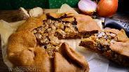 Фото рецепта Ржаная галета с грибами