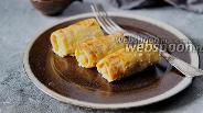 Фото рецепта Блинчики с мясной начинкой (курица и говядина) запечённые в духовке