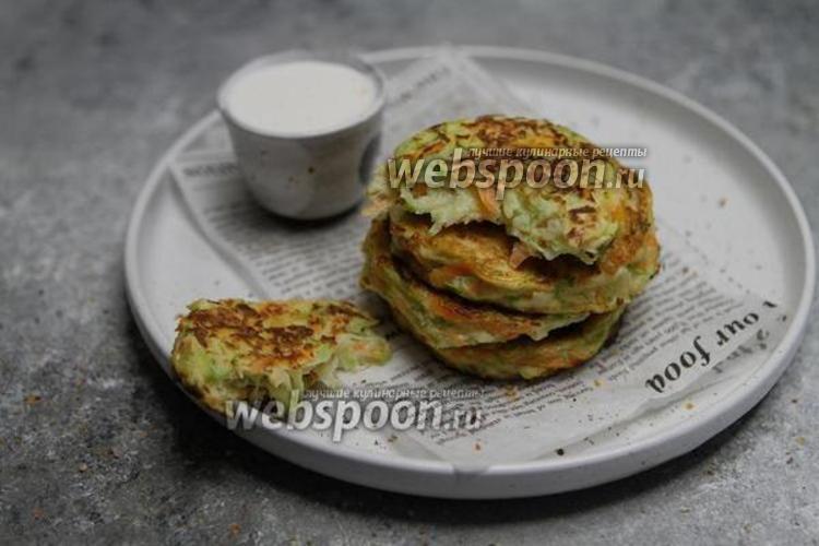 Фото Оладьи из кабачков на рисовой муке