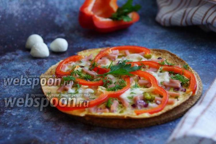 Фото Пицца на тортилье