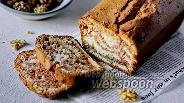 Фото рецепта Кекс «Зебра» на рисовой муке с грецким орехом