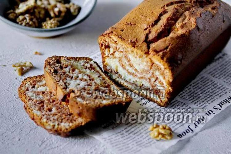 Фото Кекс «Зебра» на рисовой муке с грецким орехом