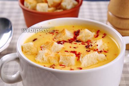 Сырный суп на курином бульоне. Видео рецепт видео рецепт