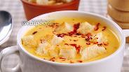 Фото рецепта Сырный суп на курином бульоне. Видео рецепт