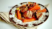 Фото рецепта Запечённая куриная печень с овощами в пергаменте