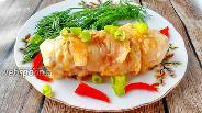 Фото рецепта Рулетики из курицы в беконе с сыром