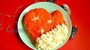 Фото рецепта Новогодний салат «Варежка»