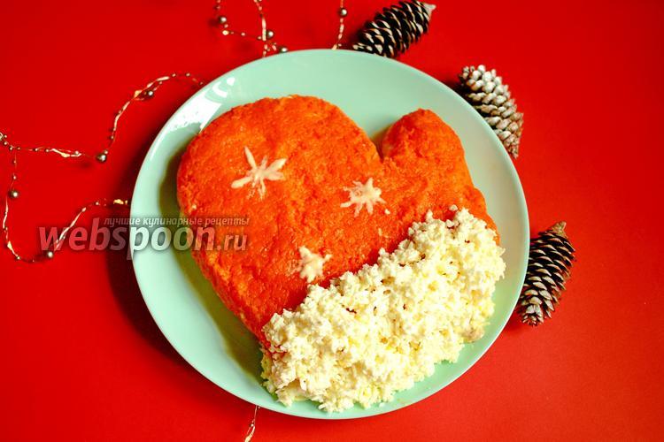 Фото Новогодний салат «Варежка»