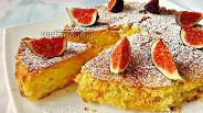 Фото рецепта Манник с семолиной и фруктовой начинкой