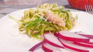 Фото рецепта Кабачковые спагетти с курицей