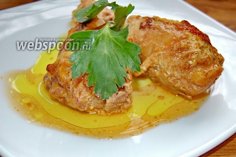 Фото Курица запечённая в ананасовом маринаде