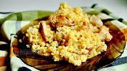 Фото рецепта Курица с булгуром в горшочке