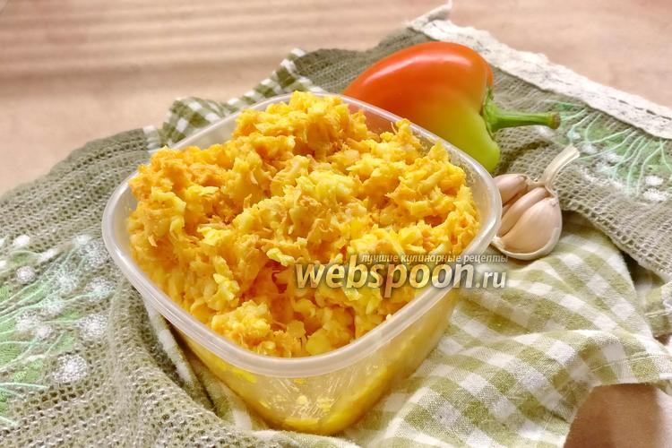 Фото Сырный салат с морковью и чесноком