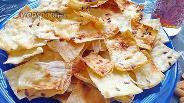 Фото рецепта Чипсы из лаваша с сыром и сметаной