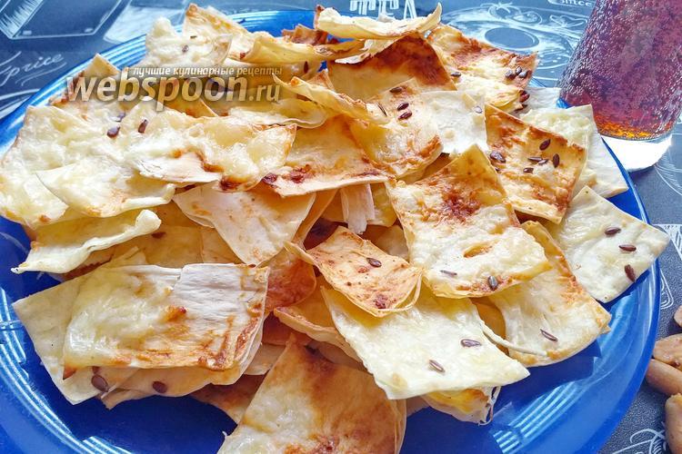Фото Чипсы из лаваша с сыром и сметаной