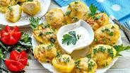 Фото рецепта Отварная картошка фаршированная фаршем и с сыром в духовке