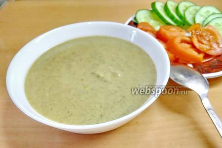 Фото рецепта Чечевичный суп-пюре с грибами и чесноком