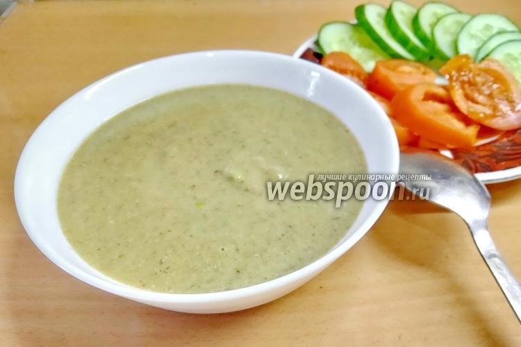 Фото Чечевичный суп-пюре с грибами и чесноком