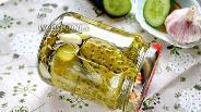 Фото рецепта Огурцы резаные маринованные с петрушкой