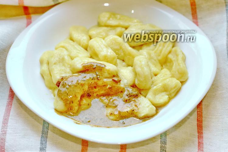Фото Картофельные ньокки с соусом из сушёных белых грибов