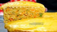Фото рецепта Вафельный торт с курицей. Видео