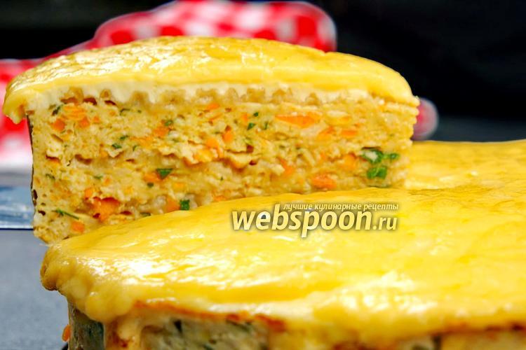 Фото Вафельный торт с курицей. Видео