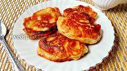 Фото рецепта Оладьи с яблоками без яиц на ряженке