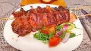 Фото рецепта Шашлычки из куриной печени с копчёной грудинкой