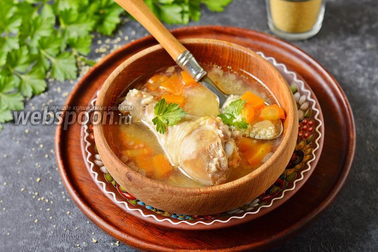 Фото Суп с кускусом и курицей