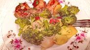 Фото рецепта Стейки трески с овощами