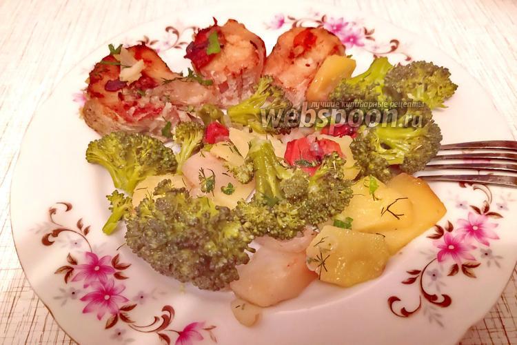 Фото Стейки трески с овощами