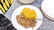Фото рецепта Салат из скумбрии с рисом и жареным луком