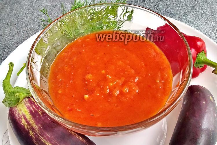 Фото Подлива из помидоров с чесноком