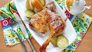 Фото рецепта Утка в духовке с мандаринами и яблоками
