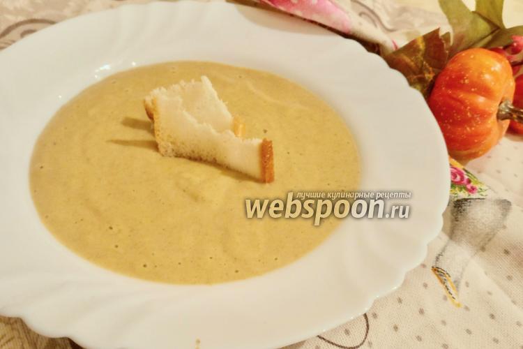 Фото Крем-суп из шампиньонов со сливками