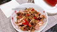 Фото рецепта Копчёная свинина с баклажанами и болгарским перцем