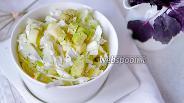 Фото рецепта Салат из капусты с авокадо и яблоком
