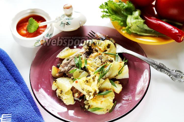 Фото Свинина в соусе ткемали с картошкой