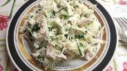 Фото рецепта Салат из зелёной редьки и курицы