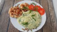 Фото рецепта Пюре из цветной капусты с чесноком и укропом