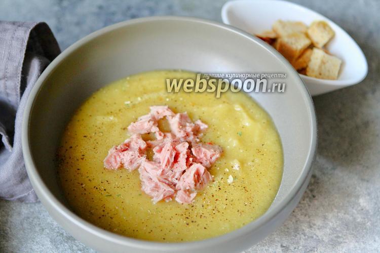 Фото Овощной суп-пюре с тунцом