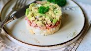Фото рецепта Салат с тунцом, рисом и авокадо