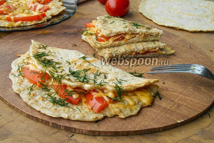 Фото Овсяноблин с сыром и помидорами