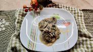 Фото рецепта Шампиньоны с овощами тушёные в сметане