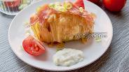 Фото рецепта Картошка-гармошка с прошутто и сыром