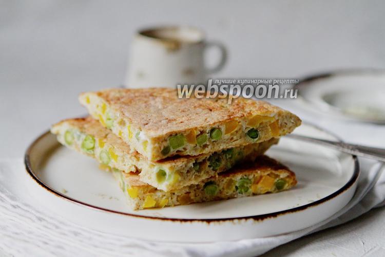 Фото Овсяноблин с овощами и сыром