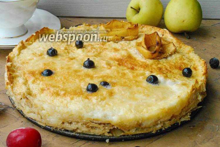 Фото Яблочный пирог из лаваша в духовке